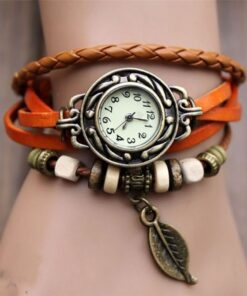 Fashion Leather Bracelet Watch - E