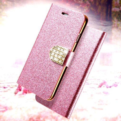 Diamond Glitter Flip Case for iPhone