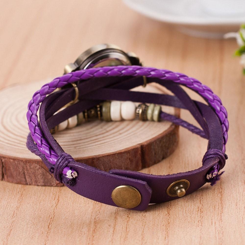 Dolphin Leather Bracelet Watch