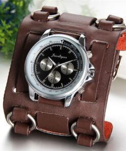 retro tachymeter wide leather strap watch 2 247x296 - Retro Tachymeter Leather Watch