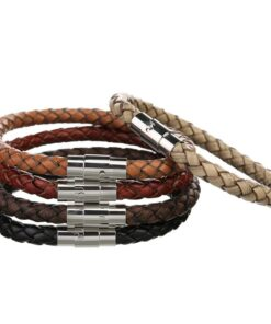 braided leather bracelet 2 247x296 - Braided Leather Bracelet