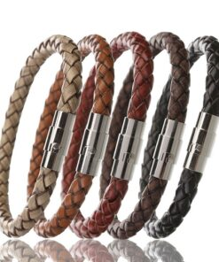 braided leather bracelet 247x296 - Braided Leather Bracelet