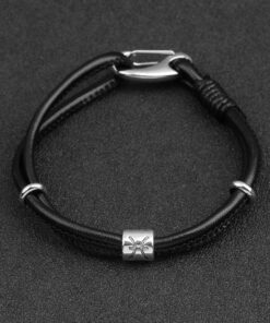 zodiac leather bracelet 1 247x296 - Zodiac Leather Bracelet