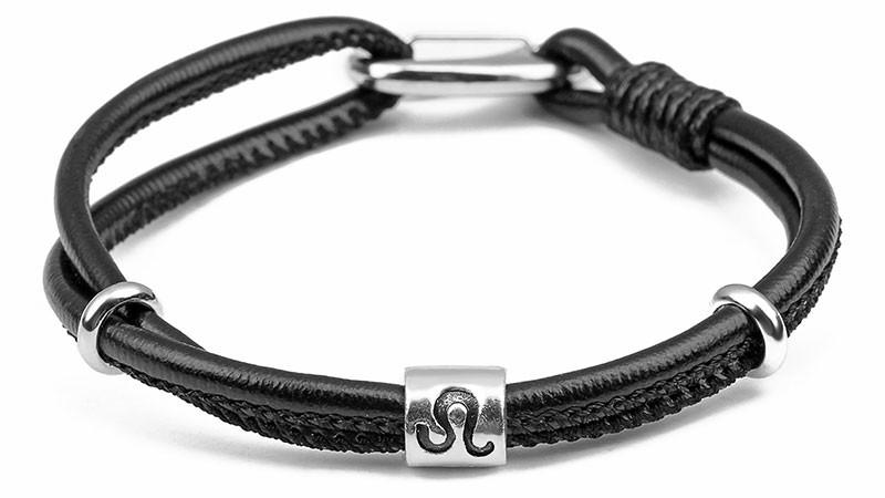 Zodiac Leather Bracelet